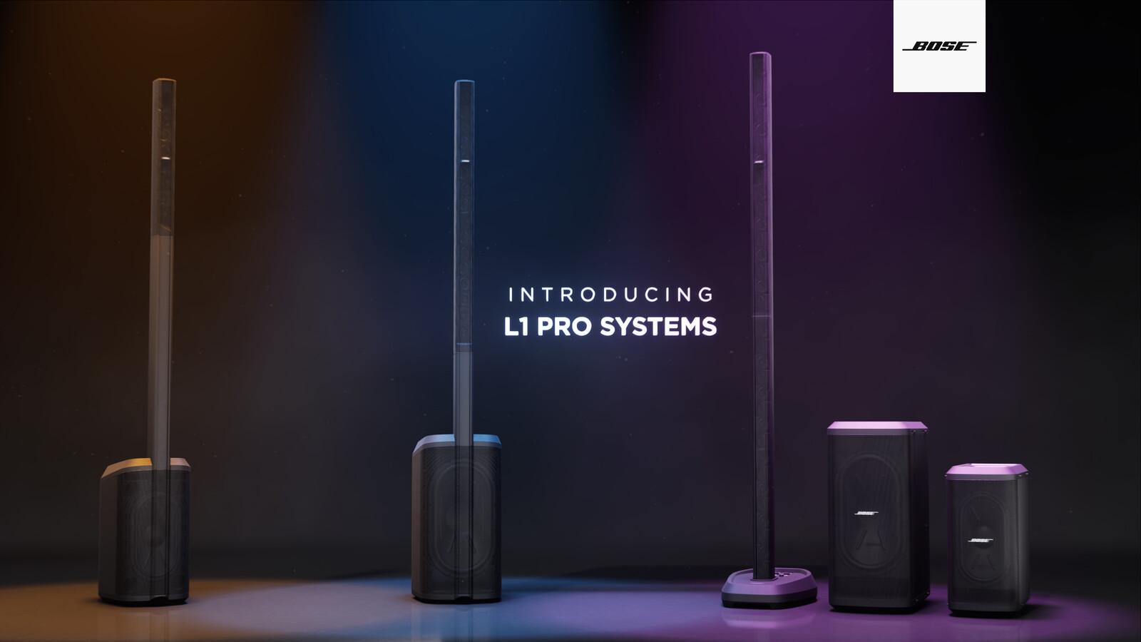 Bose L1 Pro Launch Animations