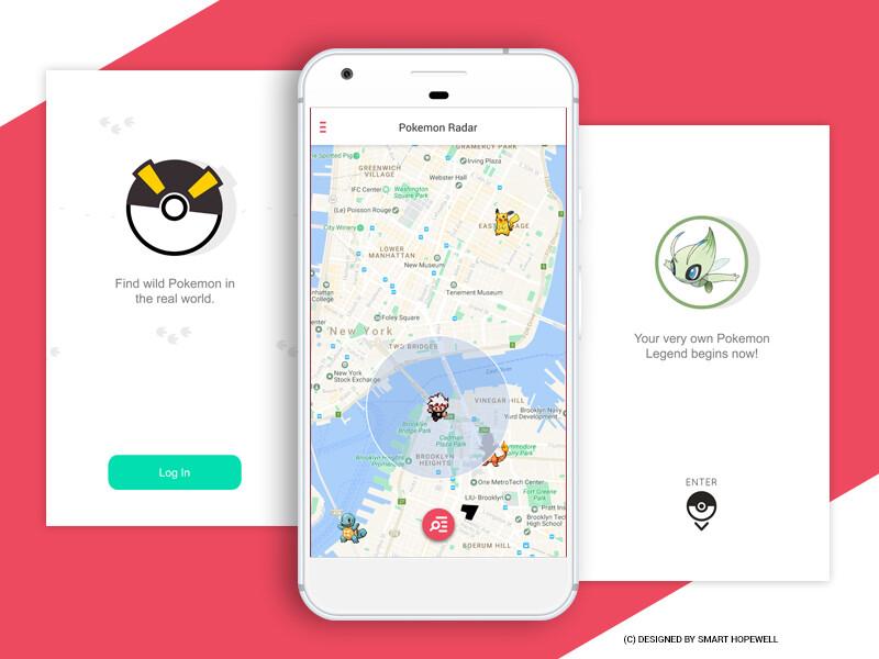 Poke Design - Pokemon GO UI Design