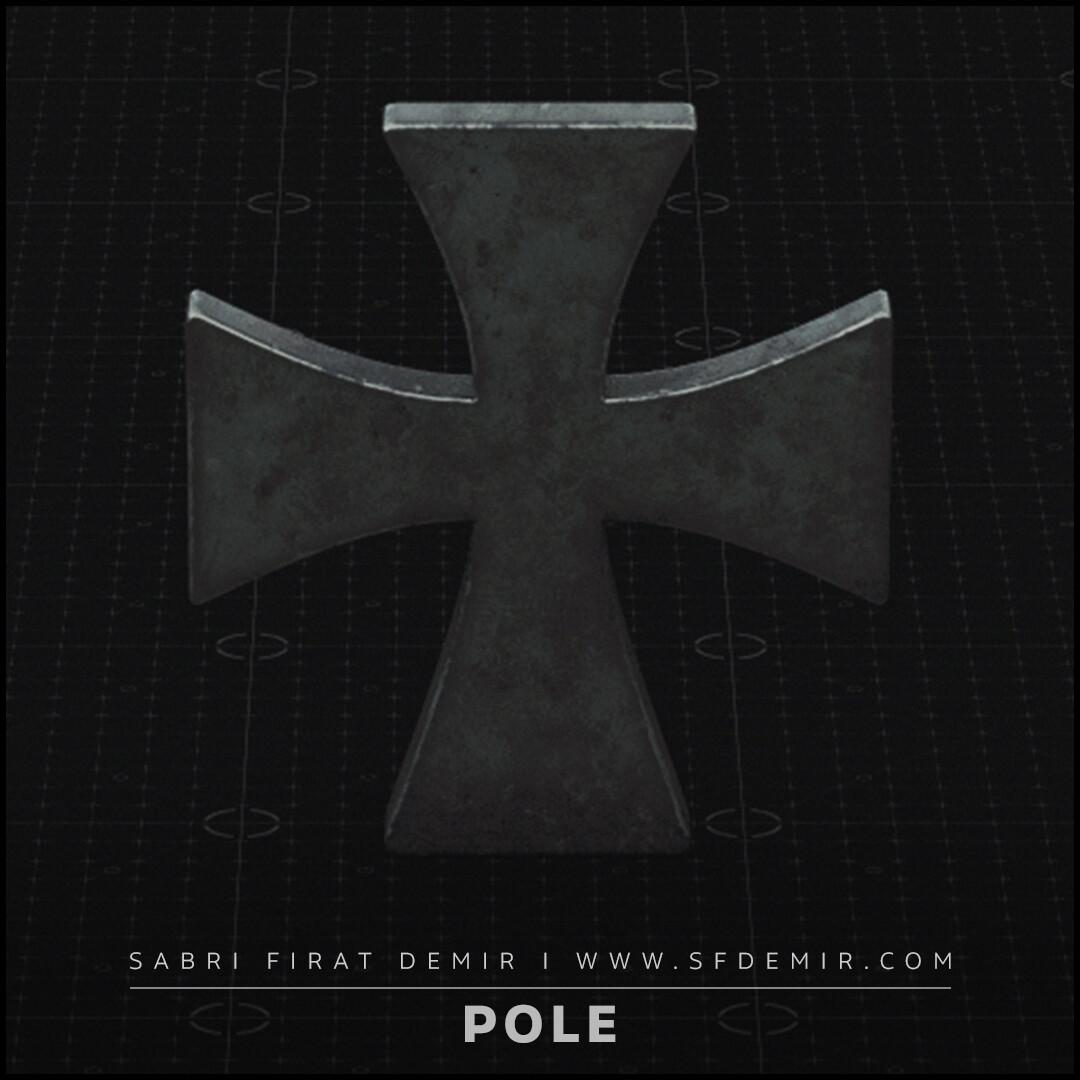 Medieval Templar  Pole Elements - Low Polygon - PBR Texture
