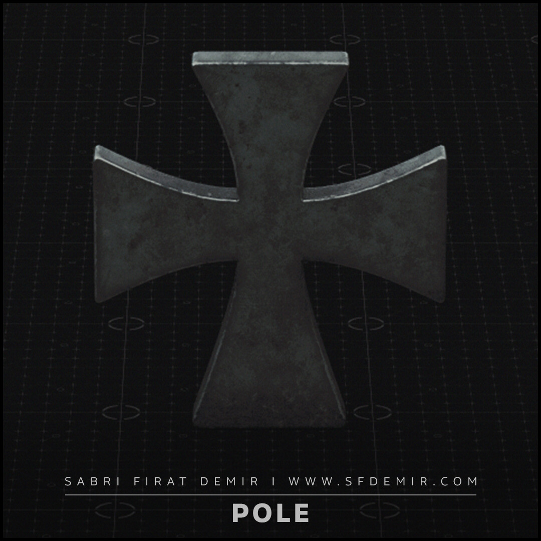 Medieval Templar  Pole Elements - Low Polygon - PBR Texture