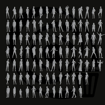 Merhaba yeryuzu insanlari merhaba yeryuzu insanlari low poly people pack 013 100 pieces r 2