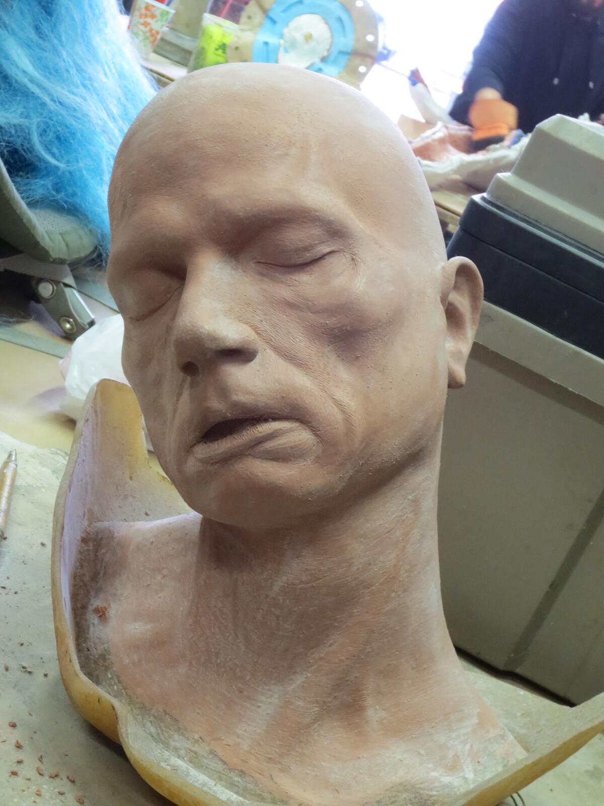 Hanging Head Body Prop Sculpture