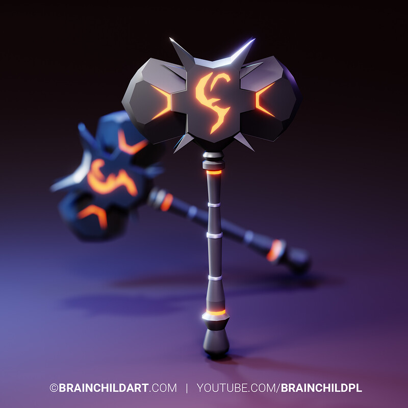 (Speed Game Art) Creating QUICK & simple LOW POLY weapons Blender 2.90 (15-40min per weapon)