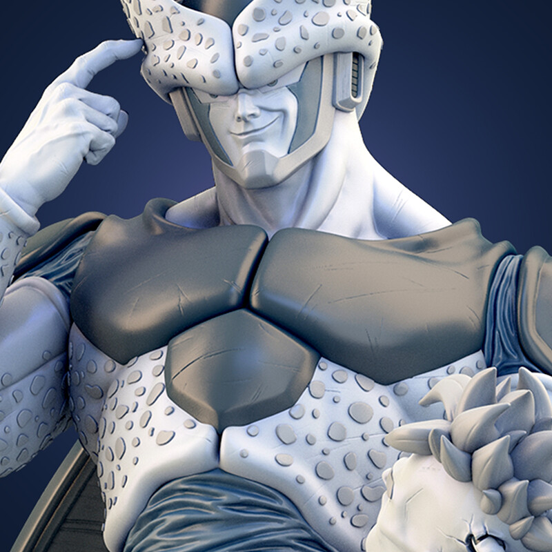 DBZ Cell 1/4 Statue for 3D Print