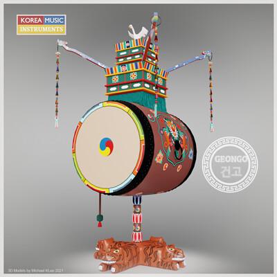 Michael klee michael klee geongo korea drums 3d model by michael klee