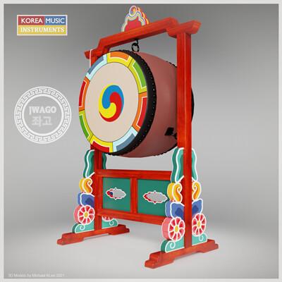 Michael klee michael klee jwago korea drums 3d models by michael klee