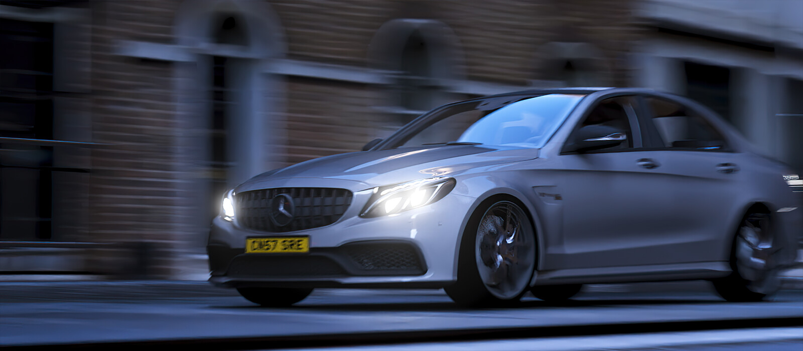 Mercedes AMG C63s Animation | 5K animation | Cinema 4D and Redshift