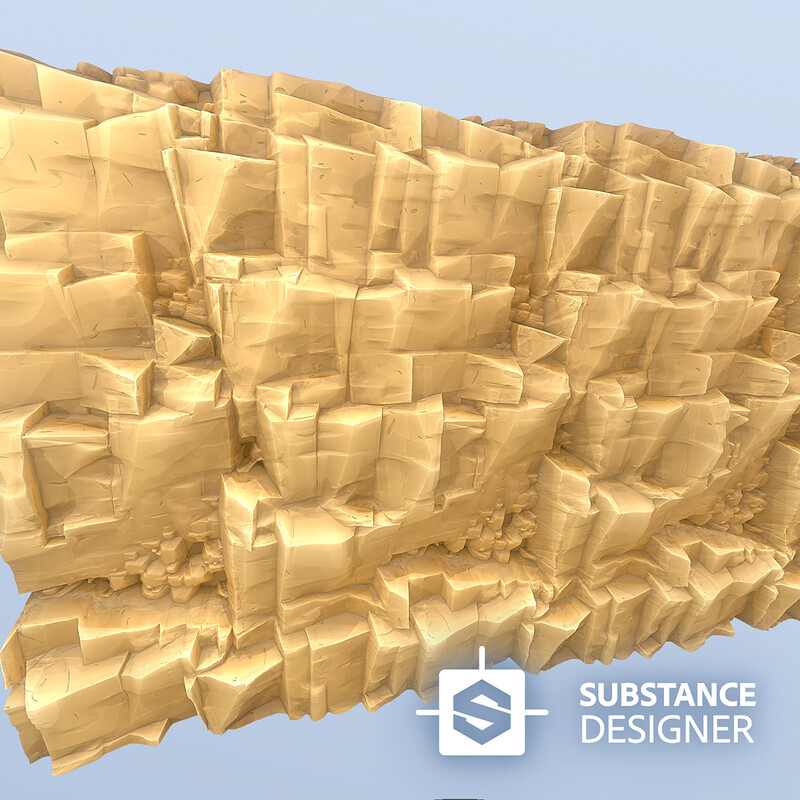 Stylised (Sandy) CLIFF texture in Substance Designer | Stylised Game Texture in Substance Designer