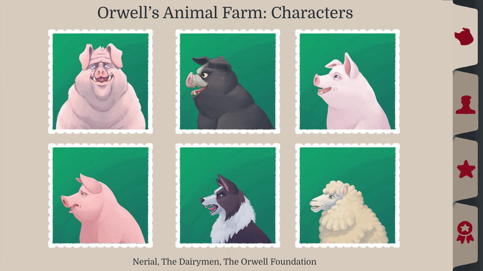 Orwell's Animal Farm: Characters