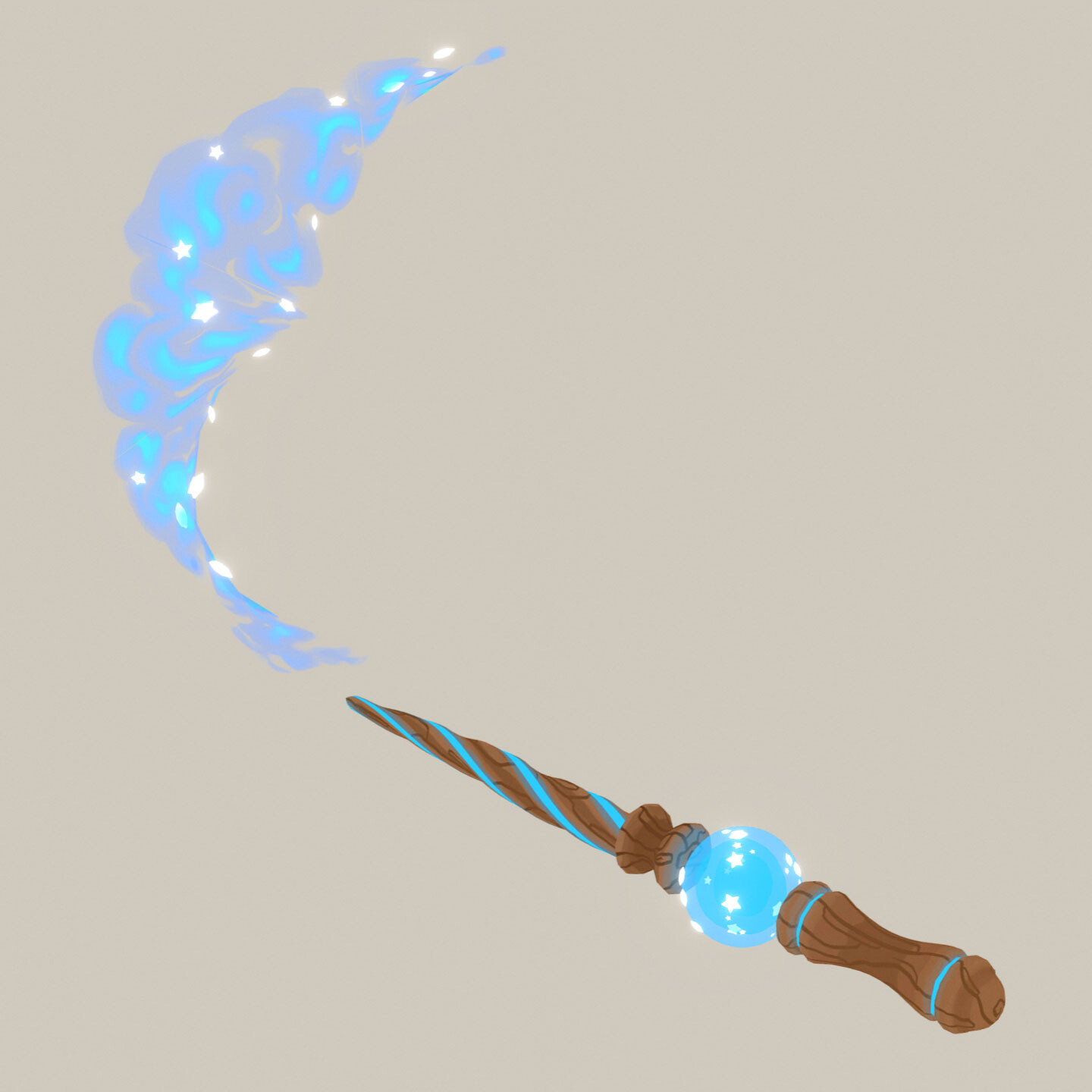 Magic Wand with Animated Spell-Casting