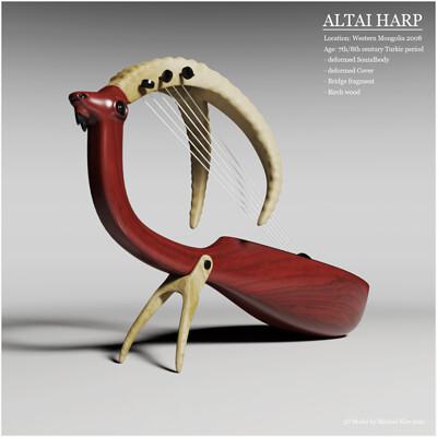 Michael klee michael klee altai harp mongolian instrument 7thcentury 3d 2021 model by michael klee2