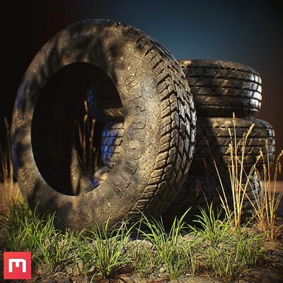 Tire Material Scene