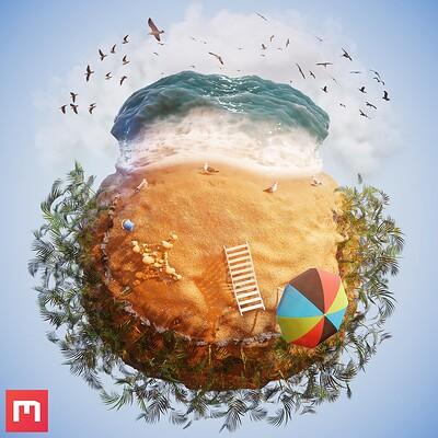 Beach Procedural Material