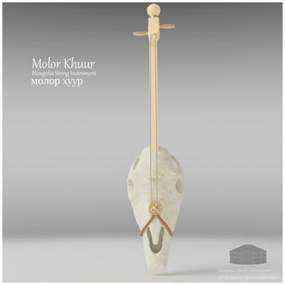 Michael klee michael klee molor khuur mongolia string instruments 3d model by michael klee 4