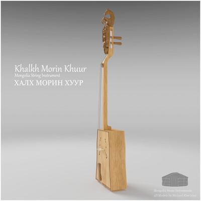 Michael klee michael klee khalkh morin khuur mongolia string instruments 3d model by michael klee 3