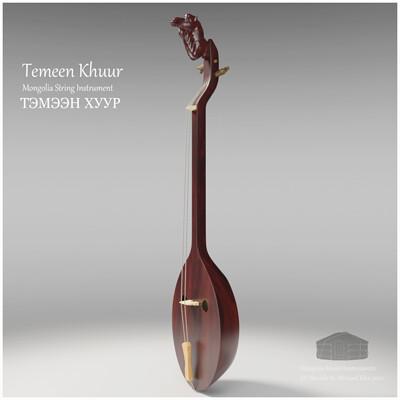 Michael klee michael klee temeen khuur mongolia string instruments 3d model by michael klee 4
