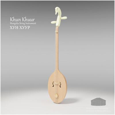 Michael klee michael klee khun khuur mongolia string instruments 3d model by michael klee 5