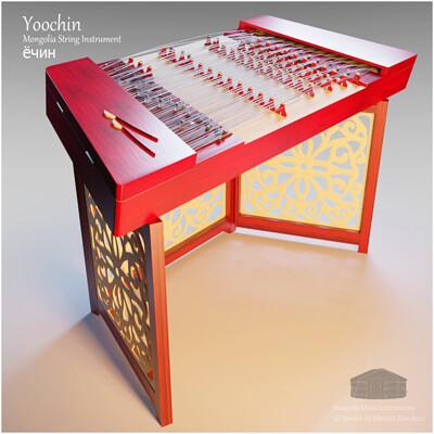 Michael klee michael klee yoochin mongolia string instruments 3d model by michael klee