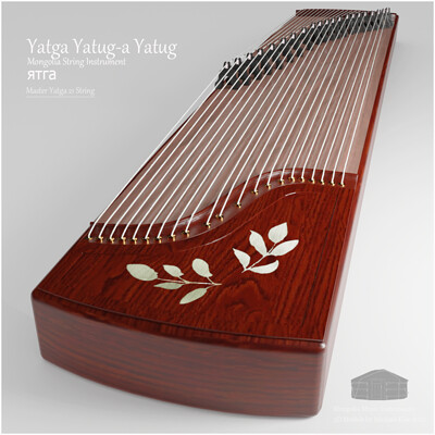 Michael klee michael klee yatga mongolia music instrument 3d model by micheal klee 21string