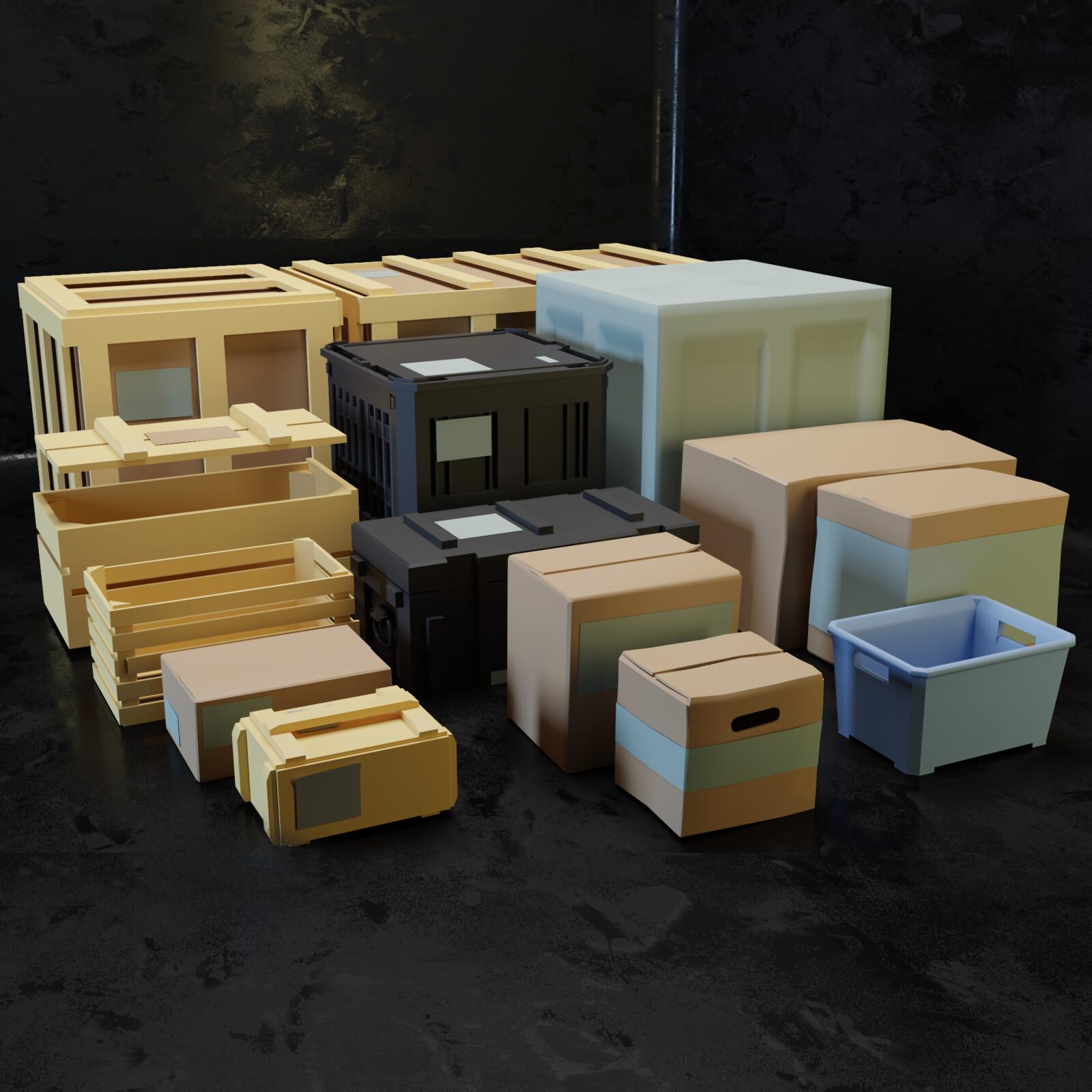 Props kit Boxes