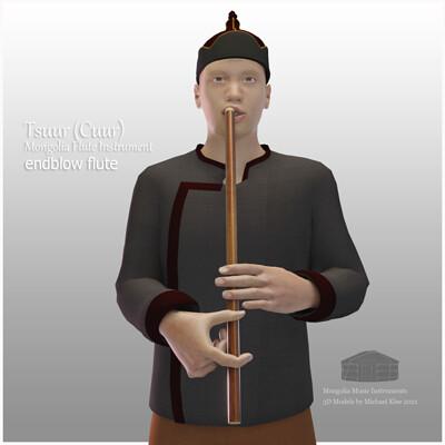 Michael klee michael klee tsuur cuur mongolia flute instruments 3d model by michael klee