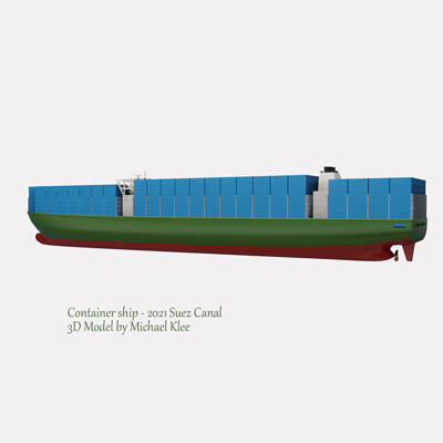 Michael klee michael klee container cargo ship suez canal 2021 3d model by michael klee