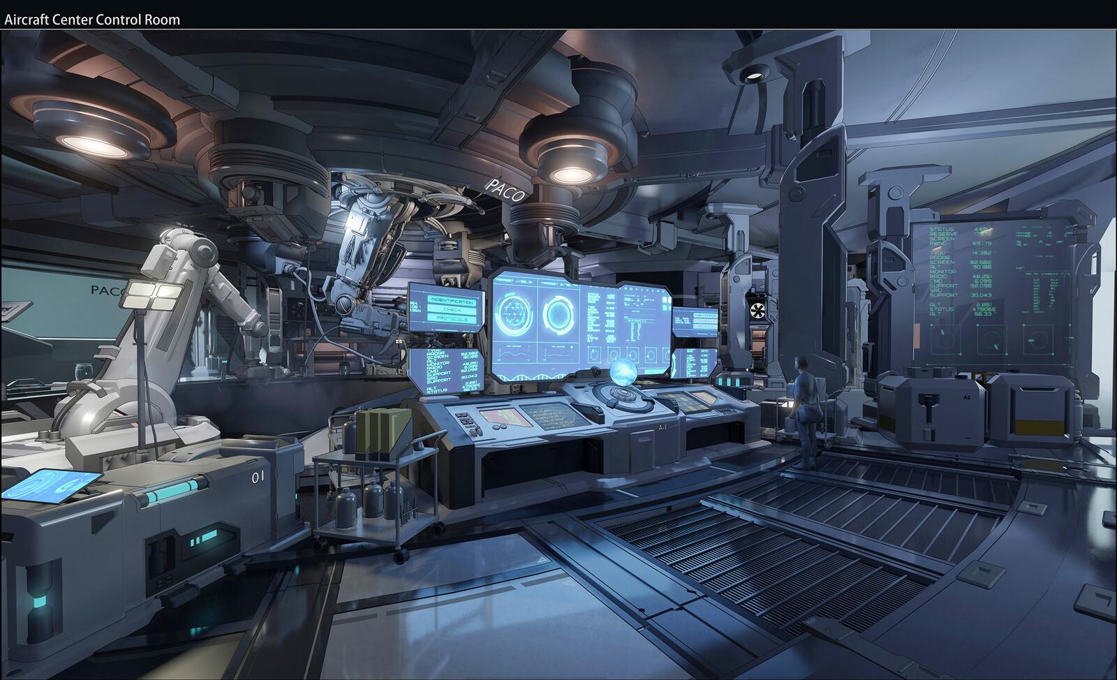 Planet L534 Sci-fi Interior