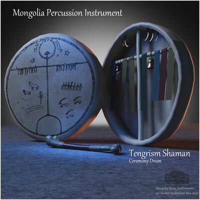 Michael klee michael klee mongolia shaman tengrism drum percussion 3d model by michael klee