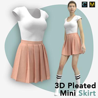 Roya almasi roya almasi pleated skirt artboard 14