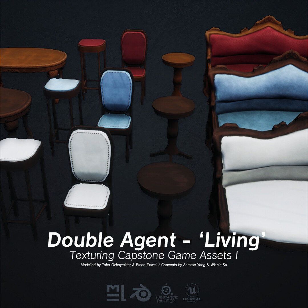 Third Year Capstone - Unreal Game Assets I - Living Set