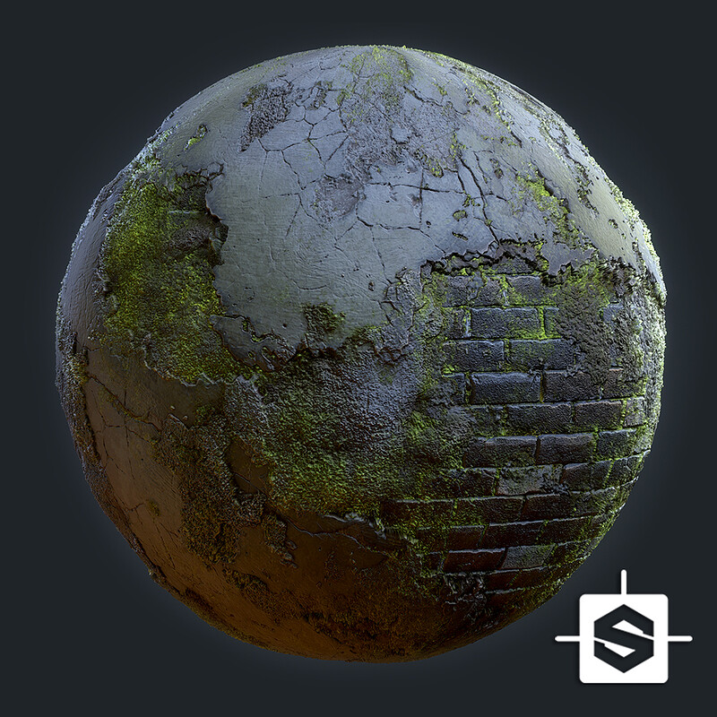 Material - Moss Covered Wall