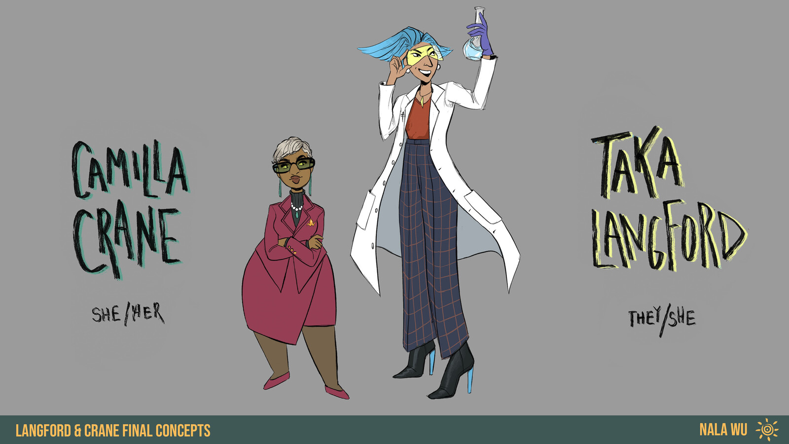 Character Design - Langford & Crane
