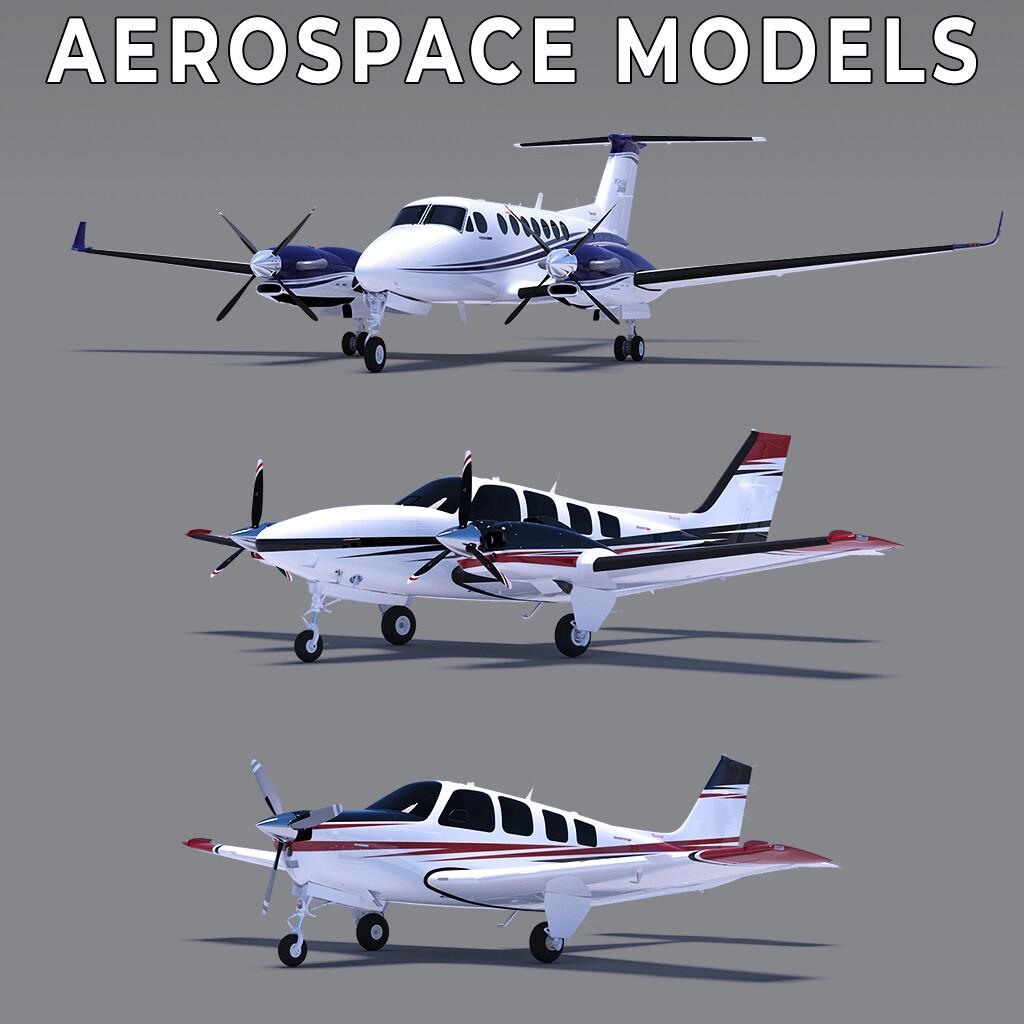 Beechcraft and Gulfstream CGI