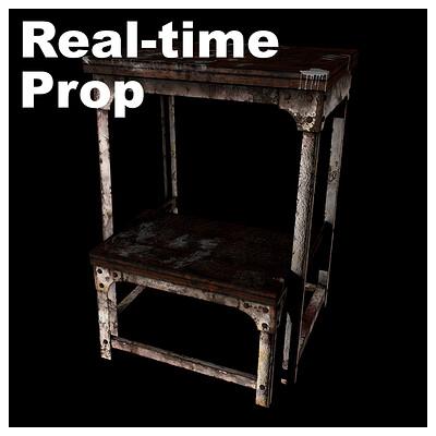 Vintage Stool - Real-time