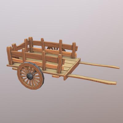 Stylized Wooden Cart
