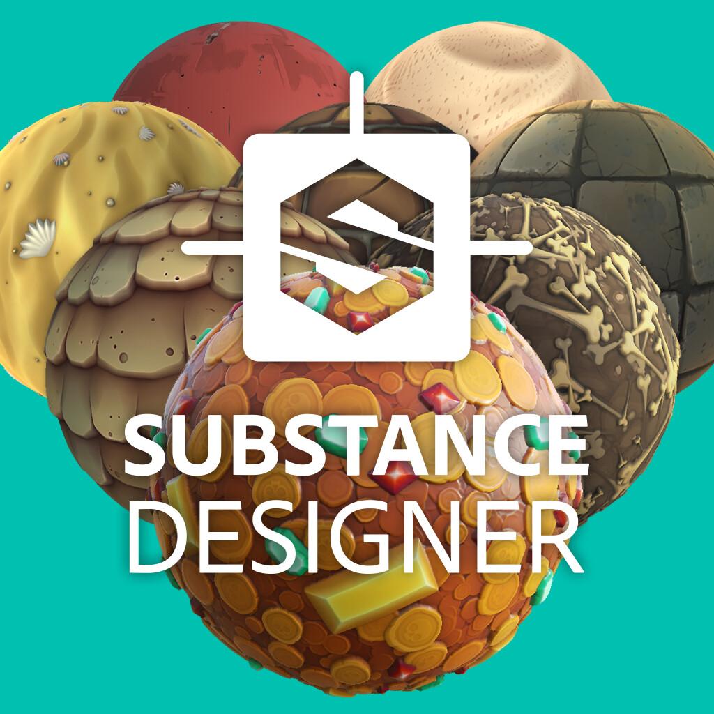 Stylized Substance Designer Textures - Tidal Flask Studios