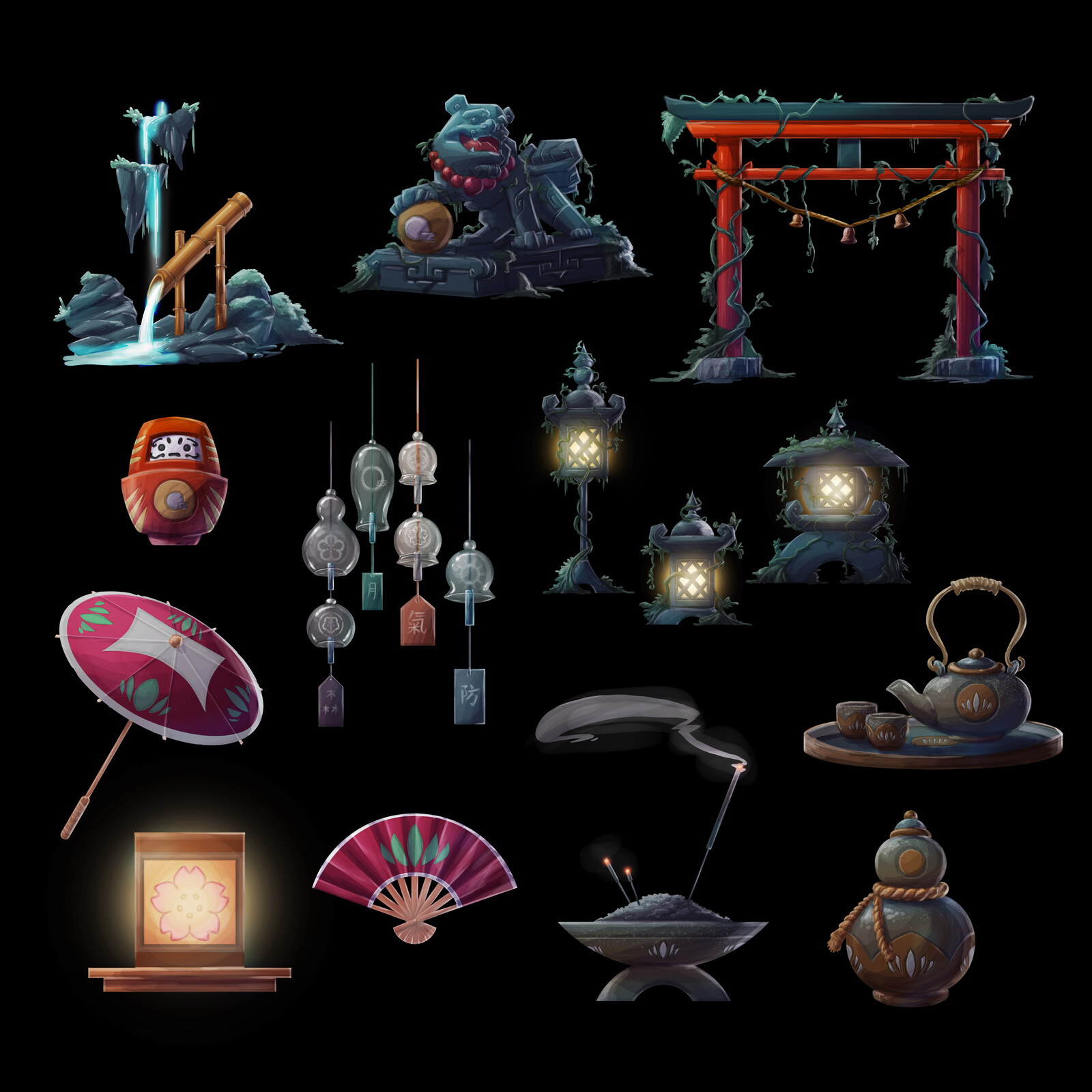 Prop Designs: Feudal Japan Concept