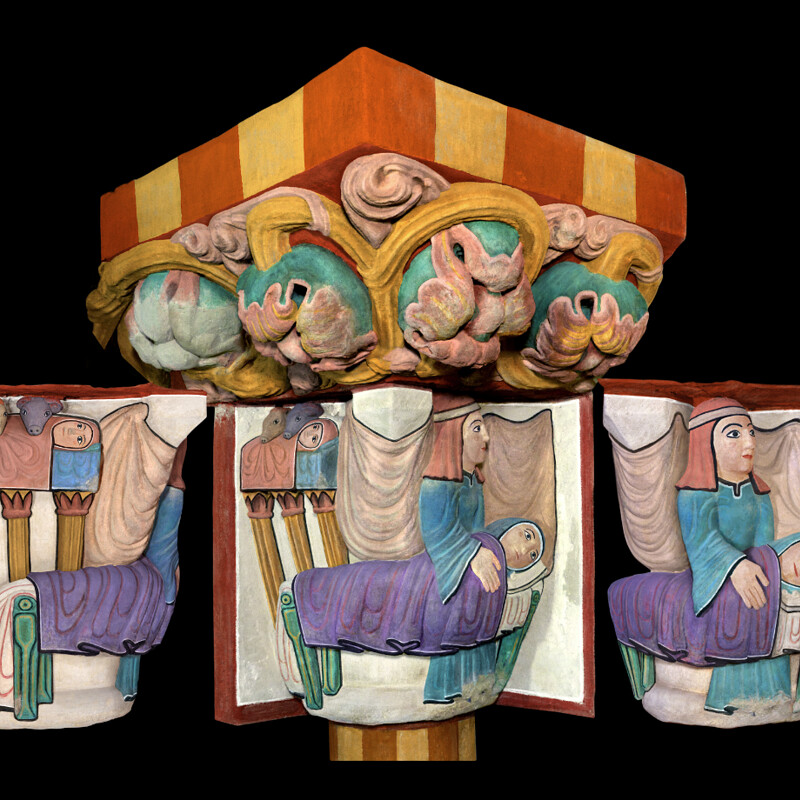 Digital restoration of the polychromies / Huesca museum