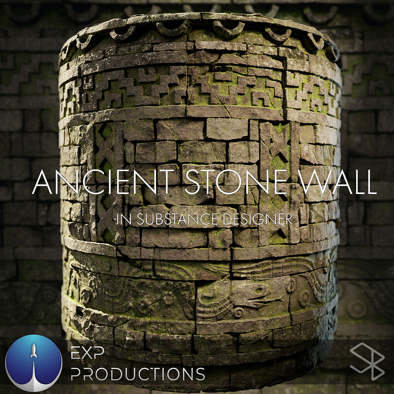 Ancient Stone Wall - EXP Tutorial