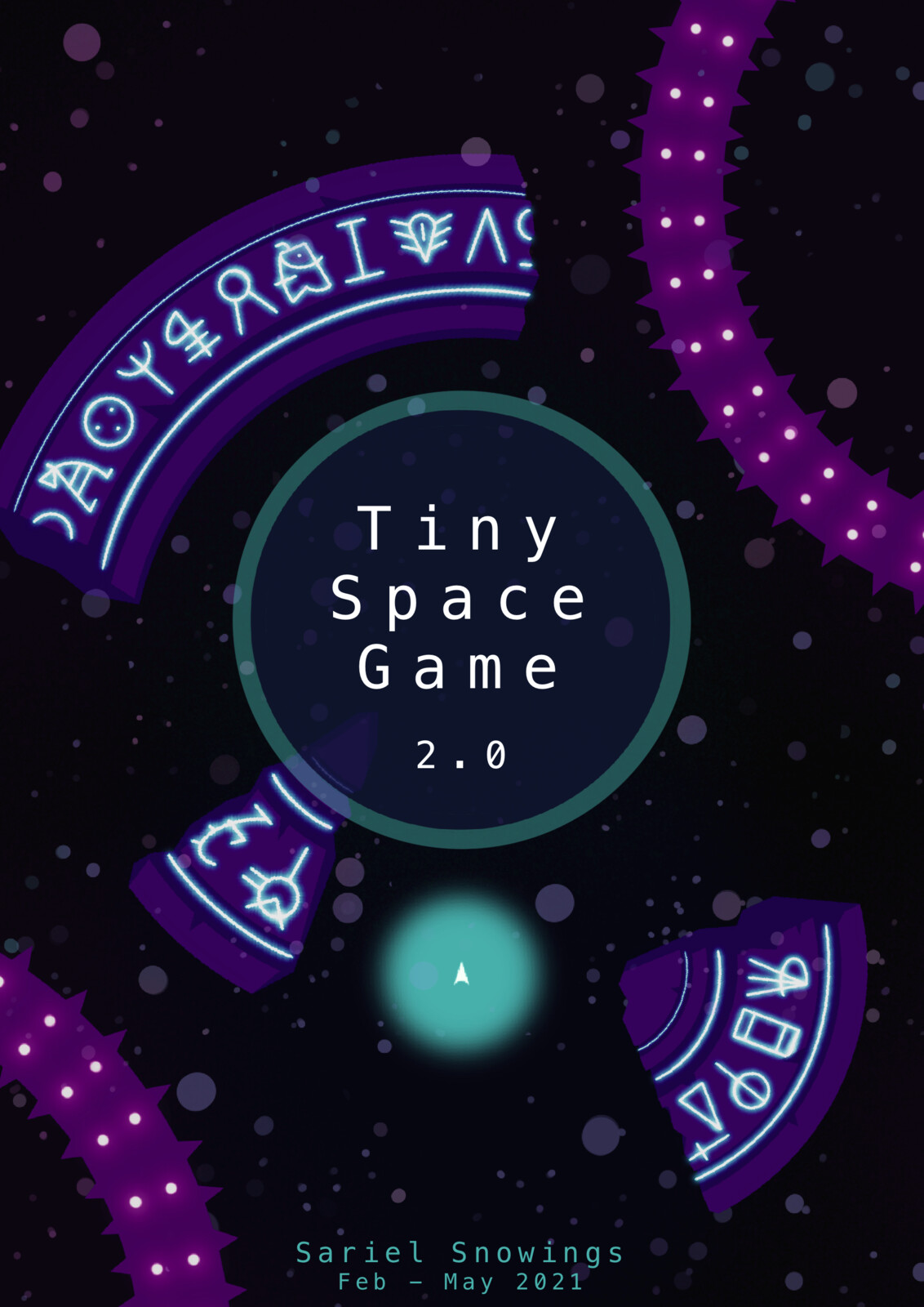 Tiny Space Game v.2 - video game art
