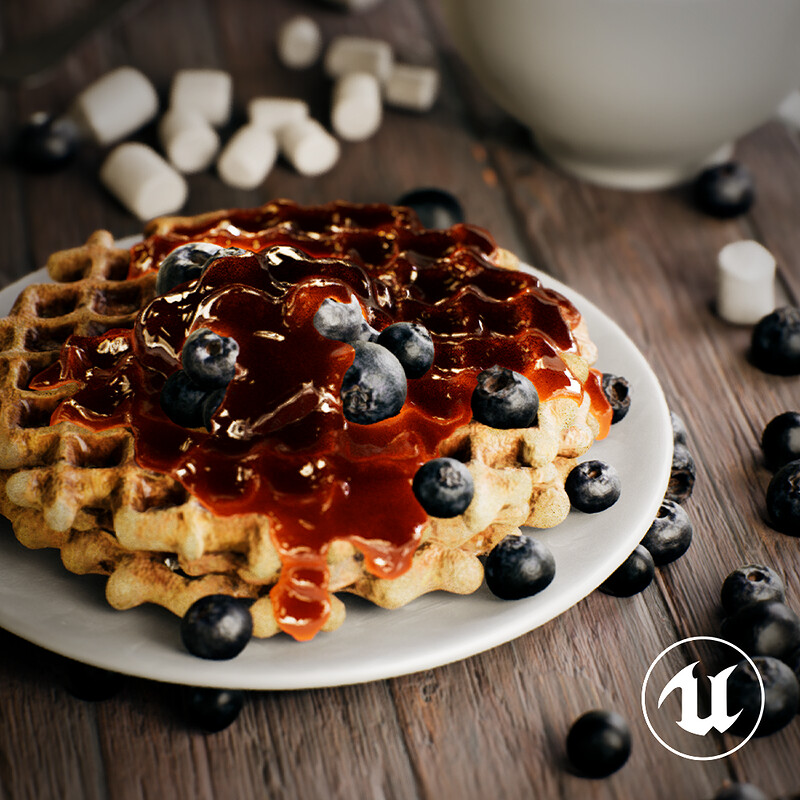 Blueberry Waffles | Real-time Ver.
