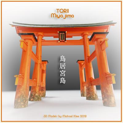 Michael klee michael klee torii miyajima 2021 3d models by michael klee