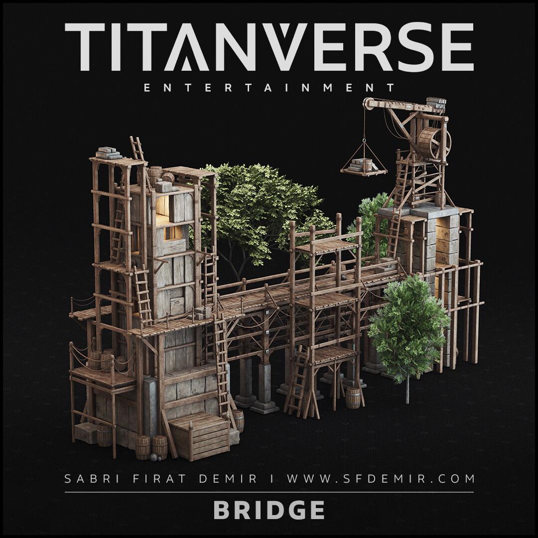 Building The Bridge (Medieval Bridge) 3D Model / PBR Texture