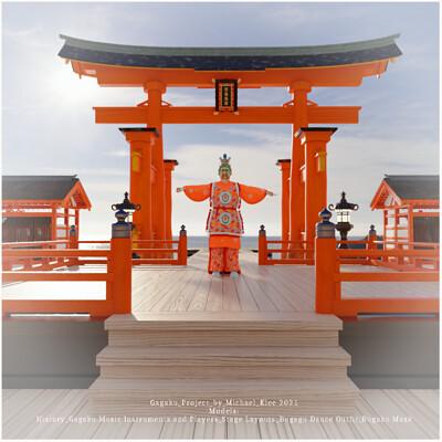 Michael klee michael klee gagaku stage itsukushima shrine 3d models by michael klee 2021 thumbnail