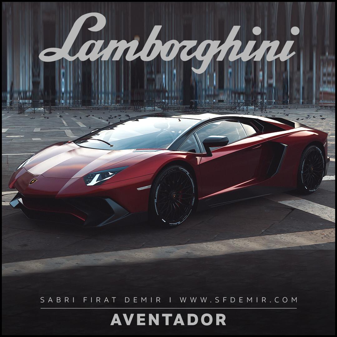 Lamborghini Aventador Red Concept Design