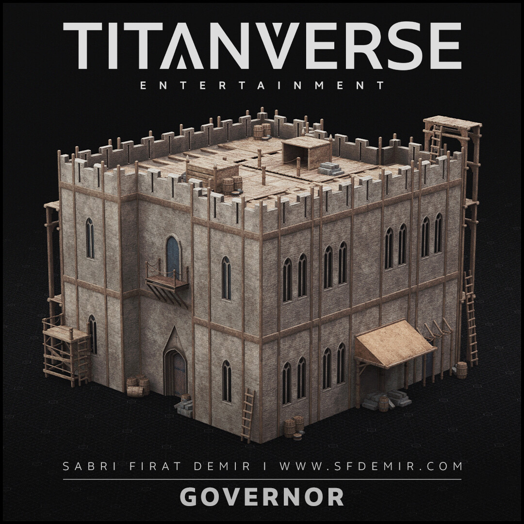 Medieval Governor's House - Low Polygon - PBR