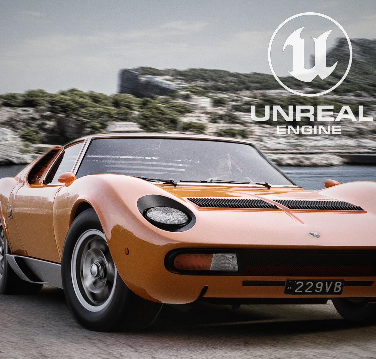 Lamborghini Miura P400 SV - Unreal Engine 4 RTX