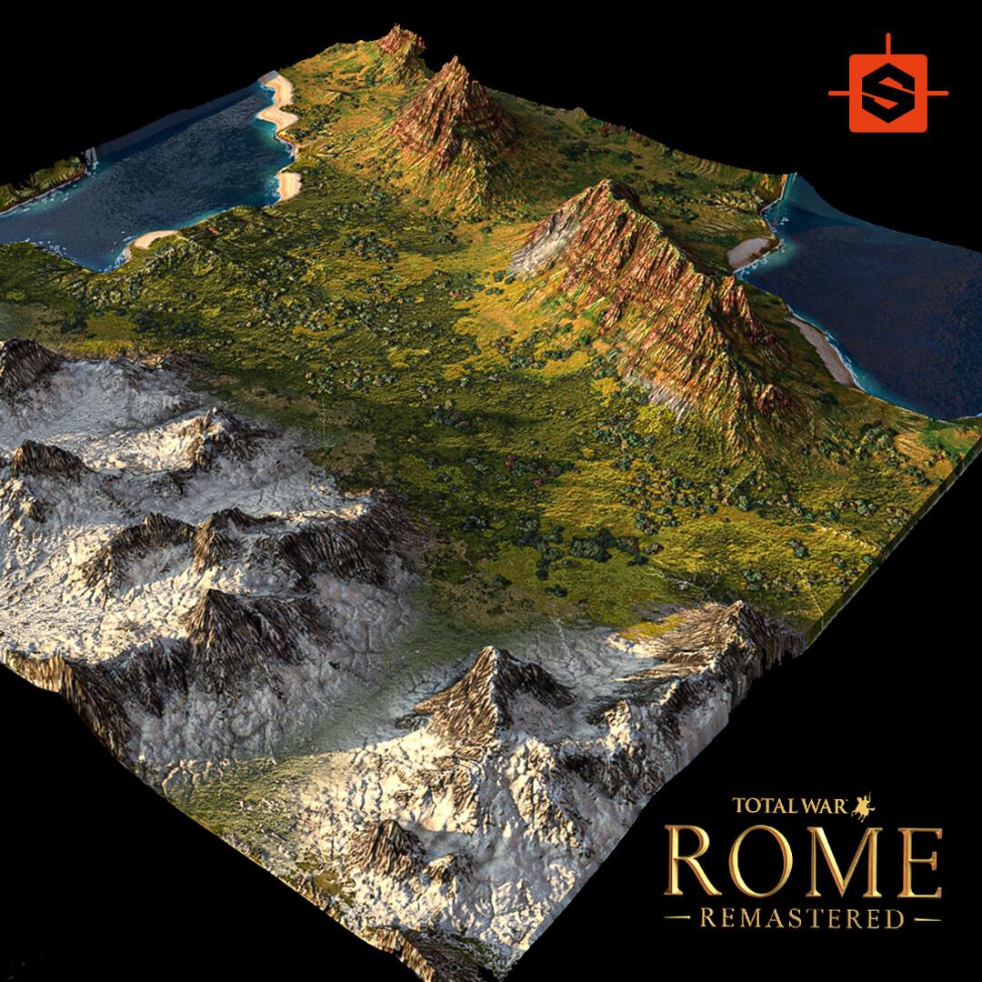 """Terrains of """"Total War Rome Remastered"""" - 100% Substance Designer"""