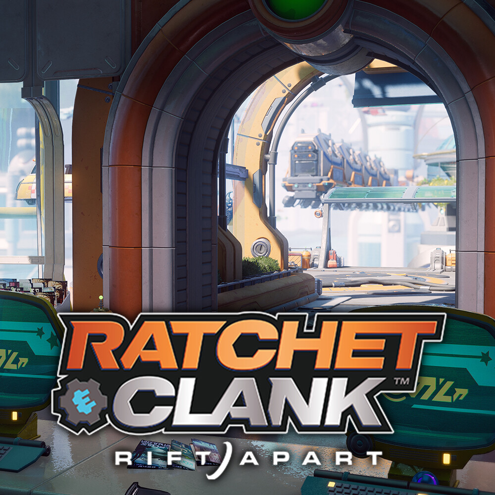 Ratchet & Clank: Rift Apart - Megalopolis - Taxi Stand