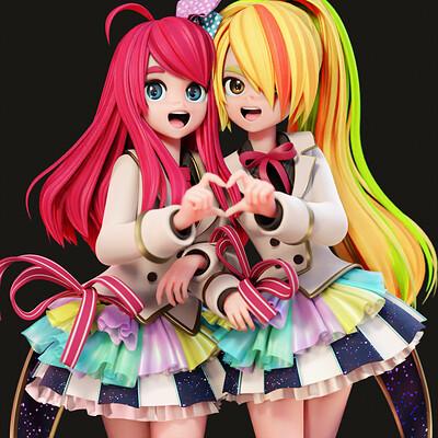 Sakura and Saki